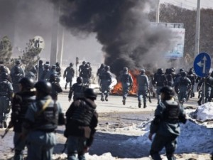 Protestors in Afghanistan - Reuters Photo