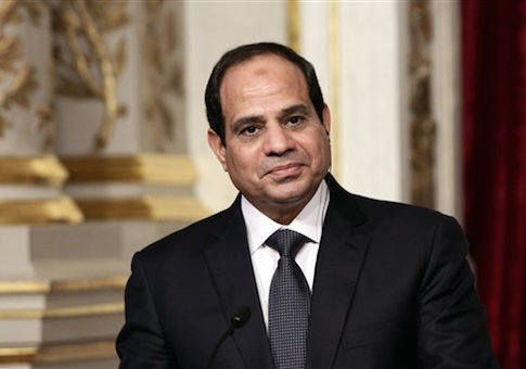 President Hollande Receives Egyptian Counterpart Al-Sisi - Paris